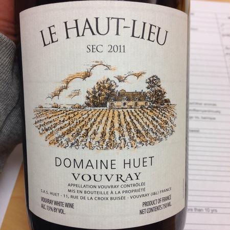 Domaine Huet Le Haut-Lieu Sec Vouvray Chenin Blanc 2015