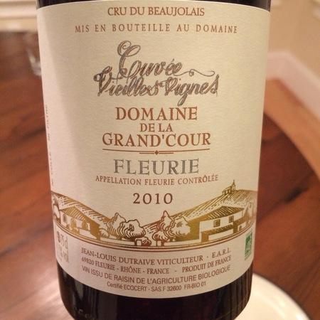 Domaine De La Grand'Cour (Jean-Louis Dutraive) Cuvée Vieilles Vignes Fleurie Gamay 2016
