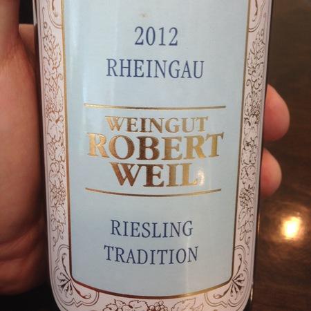 Weingut Robert Weil Tradition Rheingau Riesling 2015