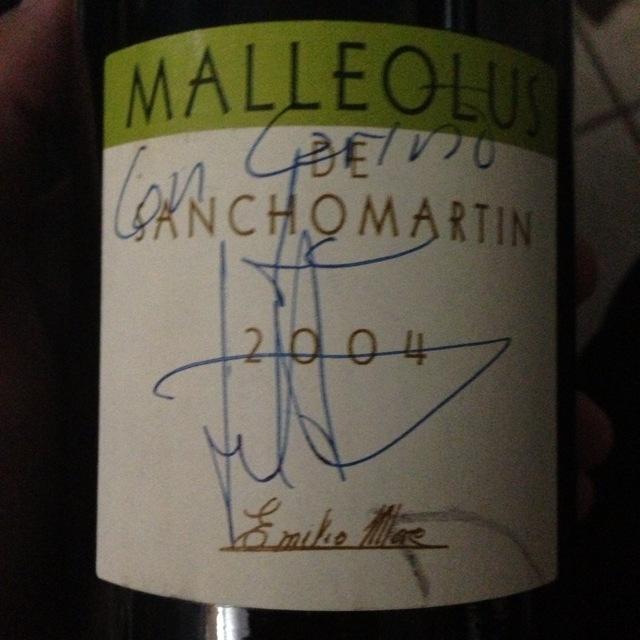 Bodegas Emilio Moro Malleolus de Sanchomartin Ribera del Duero Tempranillo 2004
