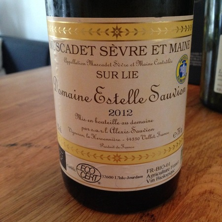 Domaine Estelle Sauvion Sur Lie Muscadet de Sèvre-et-Maine Melon de Bourgogne 2015