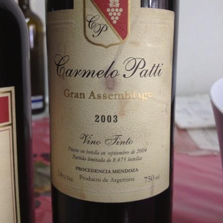 Carmelo Patti Gran Assemblage Vino Tinto Red Blend 2013
