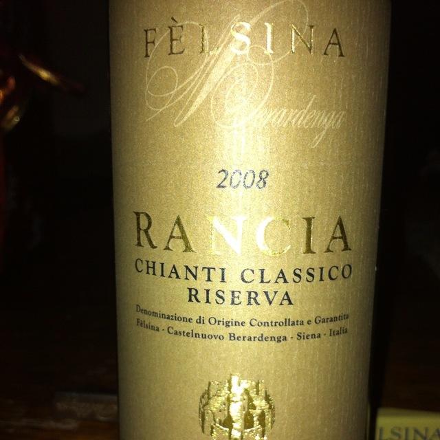 Fattoria di Fèlsina Berardenga Riserva Rancia Chianti Classico Sangiovese Blend 2008 (1500ml)