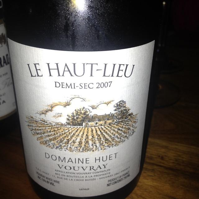 Domaine Huet Le Haut-Lieu Demi-Sec Vouvray Chenin Blanc 2015
