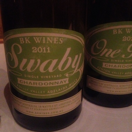 BK Wines Swaby Single Vineyard Picadilly Valley Chardonnay NV