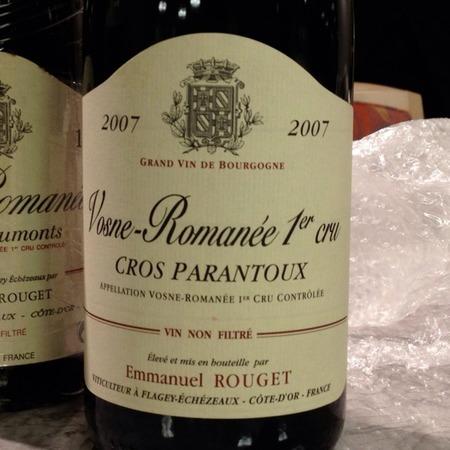 Emmanuel Rouget Cros Parantoux Vosne-Romanée 1er Cru Pinot Noir 2007