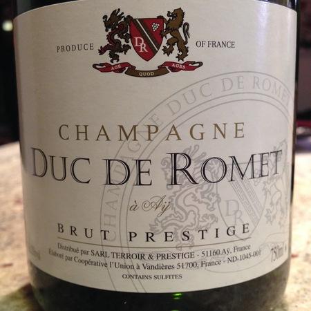 Duc de Romet Brut Prestige Champagne Pinot Meunier Pinot Noir NV