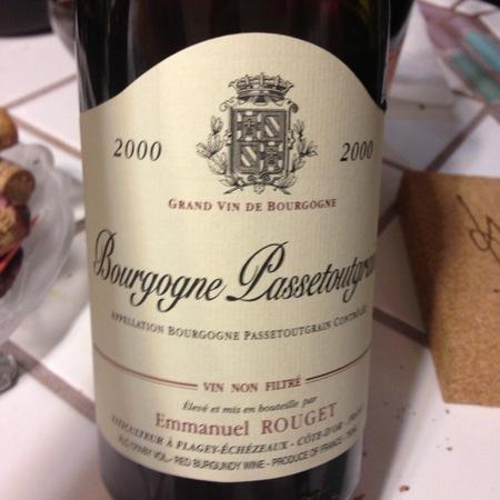 Emmanuel Rouget Bourgogne Passetoutgrains Gamay-Pinot Noir Blend 2015