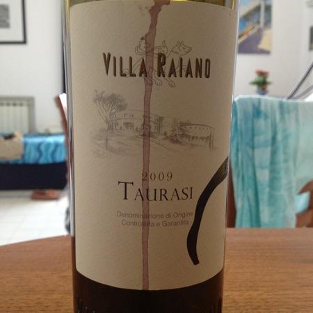 Villa Raiano Taurasi Aglianico 2009