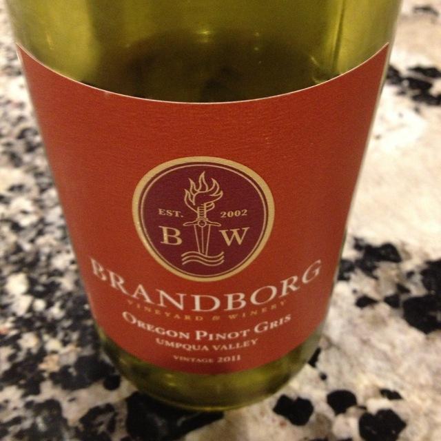 Brandborg Umpqua Valley Pinot Gris 2015