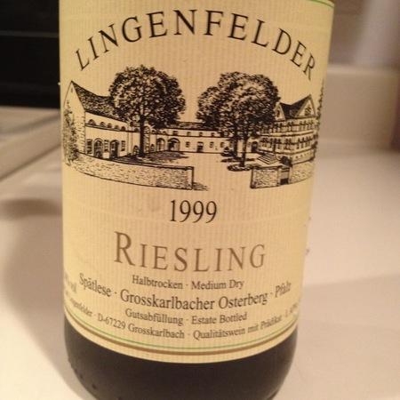 Lingenfelder Großkarlbacher Osterberg Spätlese halbtrocken Riesling 1999
