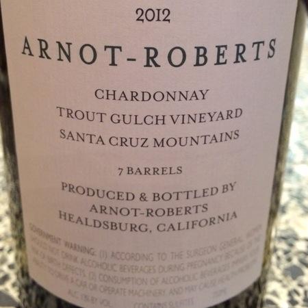 Arnot-Roberts Trout Gulch Vineyard Chardonnay 2016