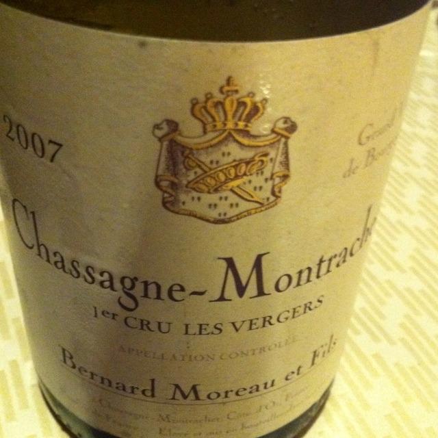 Domaine Bernard Moreau & Fils Les Vergers Chassagne-Montrachet 1er Cru Chardonnay 2015