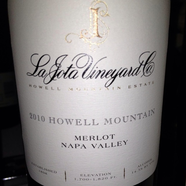 Howell Mountain Merlot 2010