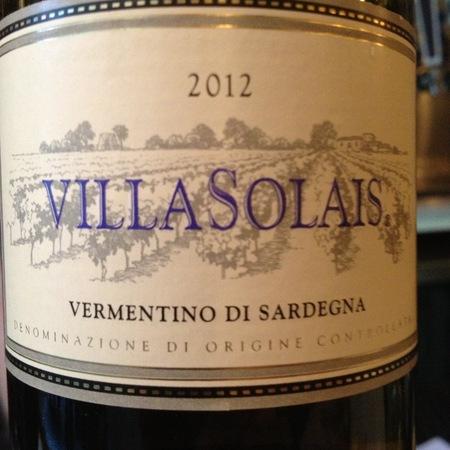 Cantina Santadi Villa Solais Vermentino di Sardegna 2015