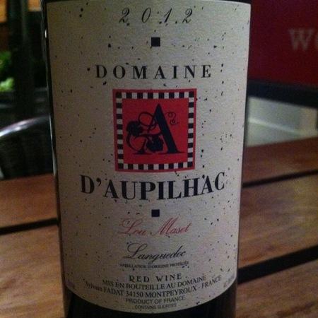 Domaine d'Aupilhac Coteaux du Languedoc Montpeyroux Lou Maset Red Blend 2014