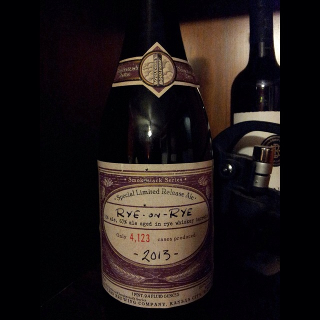 Smokestack Series Special Limited Release Rye on Rye Ale NV