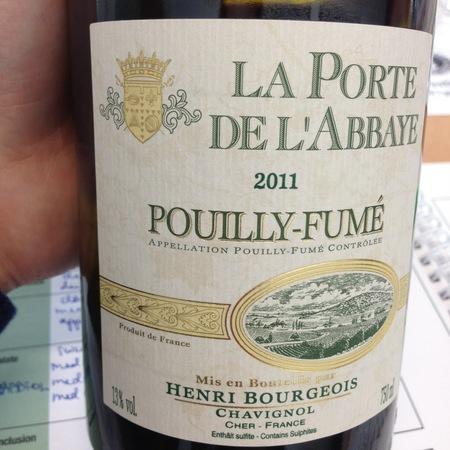 Henri Bourgeois La Porte de l'Abbaye Pouilly-Fumé Sauvignon Blanc 2015