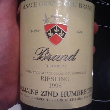 Domaine Zind Humbrecht Brand (Turckheim) Grand Cru Riesling 1998