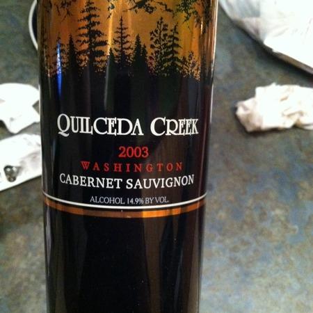 Quilceda Creek Washington Cabernet Sauvignon 2003
