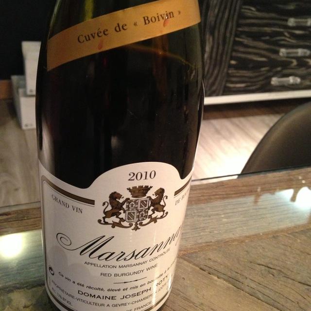 Cuvée de Boivin Marsannay Pinot Noir 2002