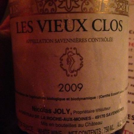 Nicolas Joly Les Vieux Clos Savennières Chenin Blanc 2014