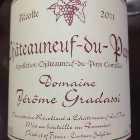 Domaine Jerome Gradassi Châteauneuf-du-Pape  Red Rhone Blend NV