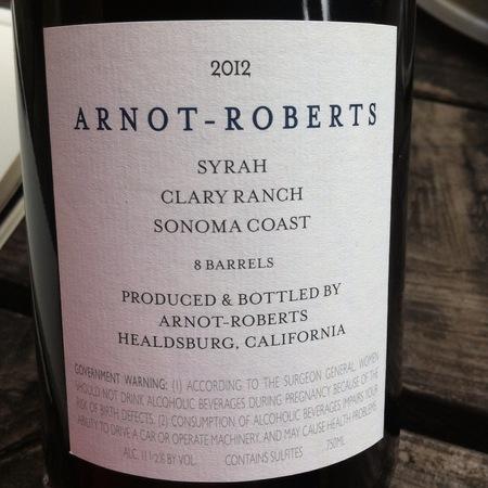 Arnot-Roberts Clary Ranch Syrah 2014