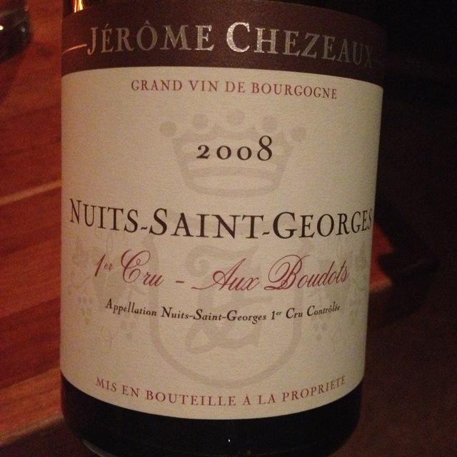 Aux Boudots Nuits-Saint-Georges 1er Cru Pinot Noir 2011