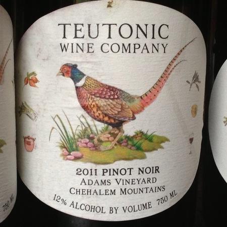 Teutonic Wine Company Adams Vineyard Pinot Noir 2011