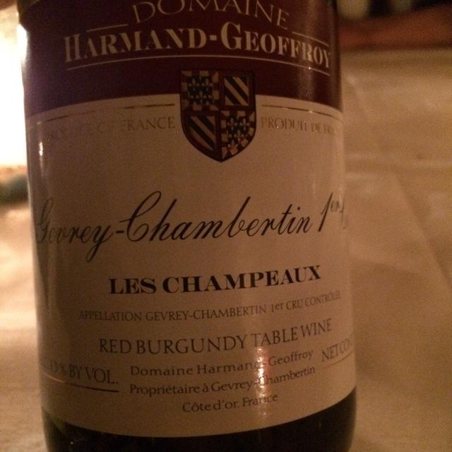 Les Champeaux Gevrey-Chambertin 1er Cru Pinot Noir 2012