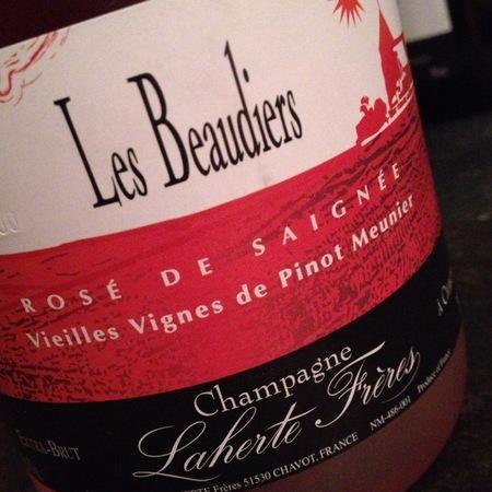 Laherte Frères Les Beaudiers Rosé de Saignée Vieilles Vignes Extra Brut Champagne Pinot Meunier  NV
