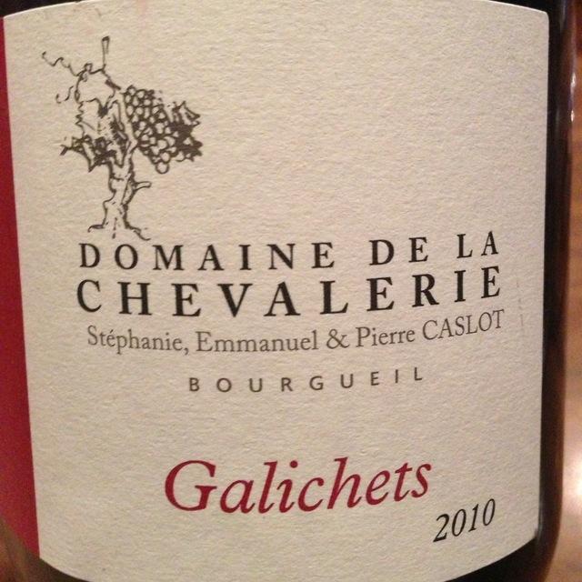 Domaine de la Chevalerie Galichets Bourgueil Cabernet Franc 2012