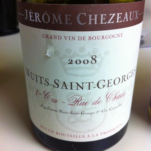 Rue de Chaux Nuits-Saint-Georges 1er Cru Pinot Noir 2013