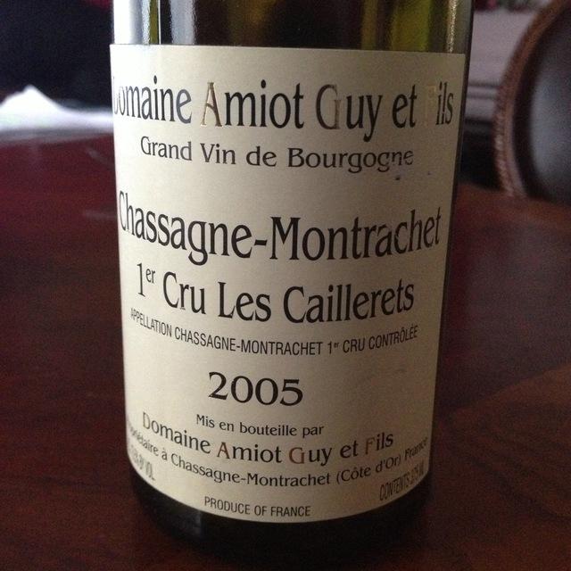 Les Caillerets Chassagne-Montrachet 1er Cru Chardonnay 1999
