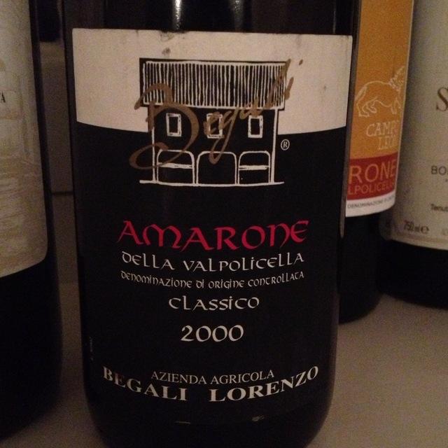 Lorenzo Begali Amarone della Valpolicella Classico Corvina Blend 2012