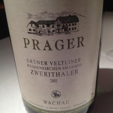 Prager Zwerithaler Smaragd Grüner Veltliner 2001