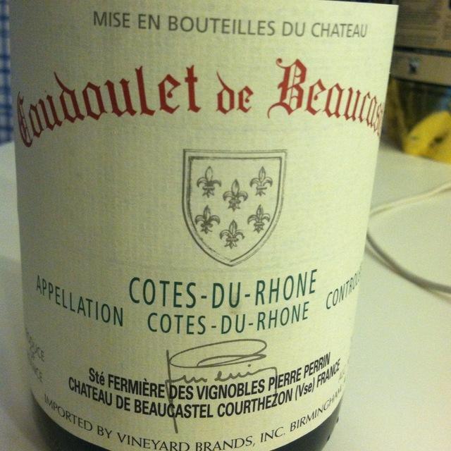 Château de Beaucastel Coudoulet de Beaucastel Côtes du Rhône Red Rhône Blend 2015