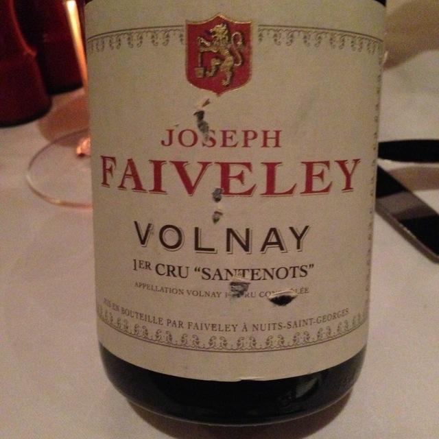 Santenots Volnay 1er Cru Pinot Noir 2011