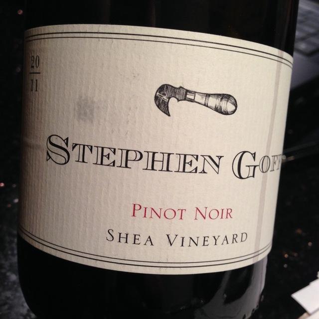 Shea Vineyard Pinot Noir  2011
