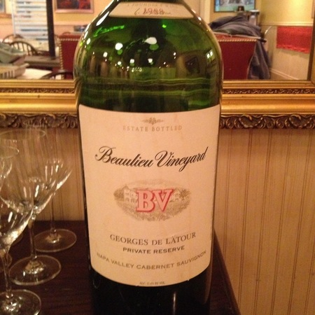 Beaulieu Vineyard Georges de Latour Private Reserve Rutherford Cabernet Sauvignon 1988
