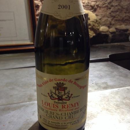 Domaine Louis Remy Latricières-Chambertin Grand Cru Pinot Noir 2001