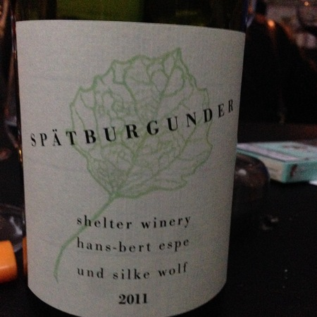 Shelter Winery Hans-Bert Espe Und Silke Wolf Baden Spätburgunder 2014