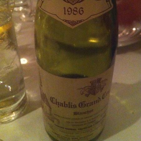 Domaine François Raveneau Blanchot Chablis Grand Cru Chardonnay 1986