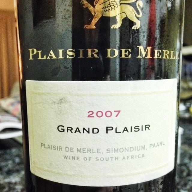 Grand Plaisir Paarl Cabernet Sauvignon Blend 2007