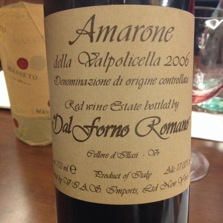 Romano Dal Forno Amarone della Valpolicella Corvina Blend 2006