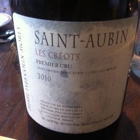 Pierre-Yves Colin-Morey Les Créots Saint-Aubin 1er Cru Chardonnay 2015