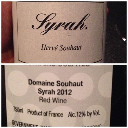 Domaine Romaneaux-Destezet (Hervé Souhaut) Vin de Pays de l'Ardèche Syrah 2016