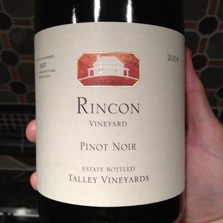 Talley Vineyards Rincon Vineyard Pinot Noir 2004