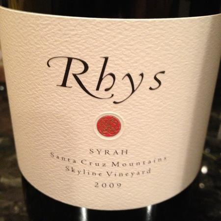 Rhys Vineyards Skyline Vineyard Syrah 2009